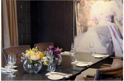 Exquisite interior in your private dining area